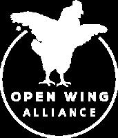Een DIER Een VRIEND is lid van de Open Wing Alliance